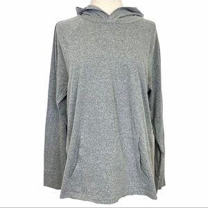 GAP Fac Softest Ultra Doux Hooded Tee Medium Gray